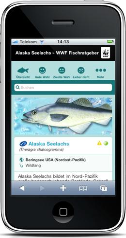 App8 in WWF-Einkaufsratgeber Fische und Meeresfrüchte 2010/2011
