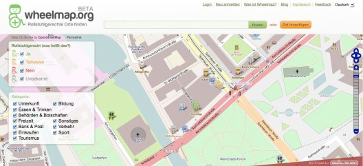 Wheelmap-Karte-528x241 in Mehr Mobilität: Mit wheelmap.org rollstuhlgerechte Orte finden