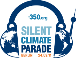 Logo in Silent Climate Parade am 24. September 2011 in Berlin