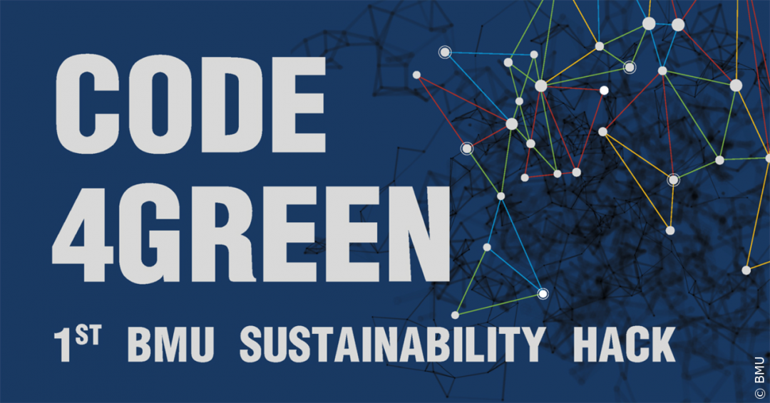 Code4green Logo-1080x566 in Code4Green: Erster Sustainability Hackathon des BMU